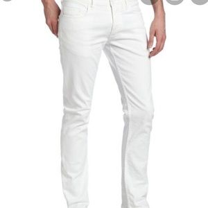 CALVIN KLEIN men's white skinny jeans